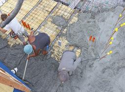 Заливка бетона м 200