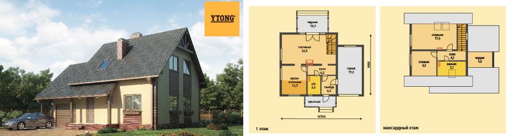 План проект дом из газобетона