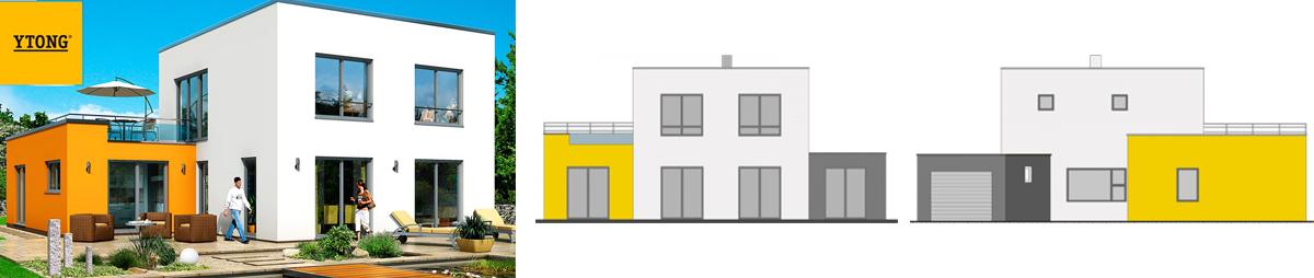Бесплатный проект жилого дома Эссен, материал пеноблоки