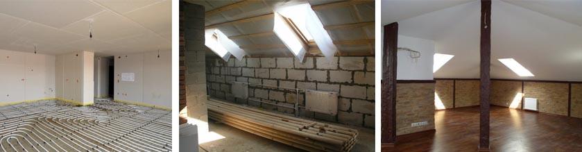 Варианты внутренней облицовки стен коттеджа из газобетона