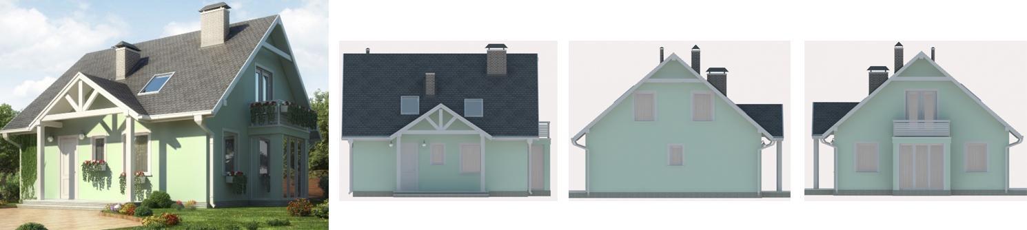 Двухэтажный дом 150 м2