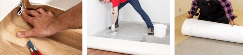 Как стелить линолеум на цементно-бетонный пол