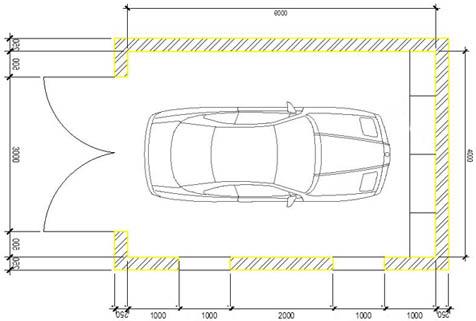 План проект гаража из блоков 6х4