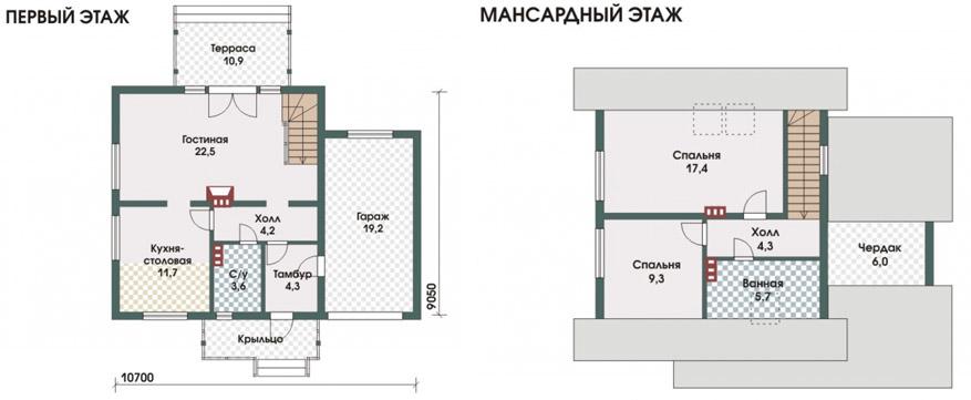 Поэтажные планы дома Констанц