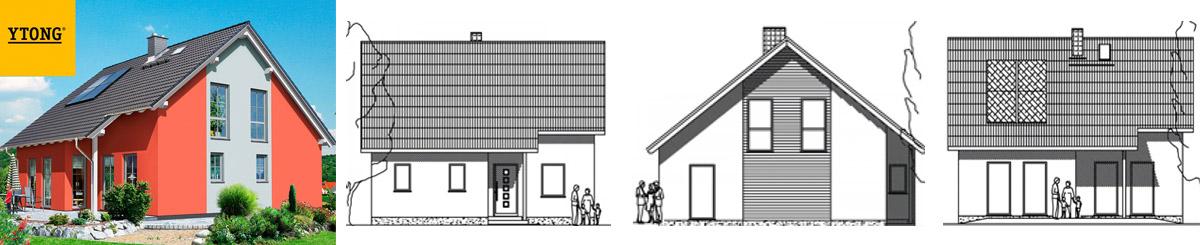 Проект Марбург - компактный 2 этажный газобетонный дом