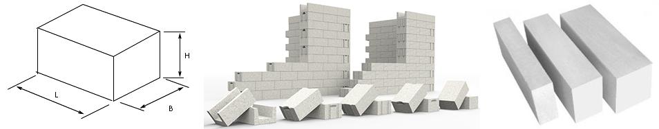Размеры блоков пенобетона