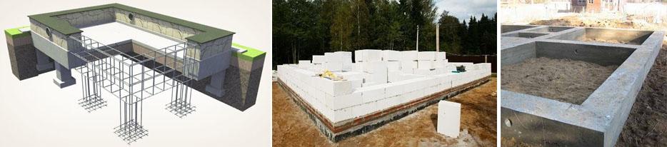 Столбчатый фундамент или ленточный для дома из газобетона