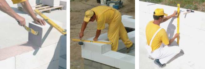 Строительство из пенобетонных блоков - особенности укладки