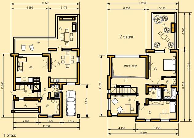 Схема дома Дессау