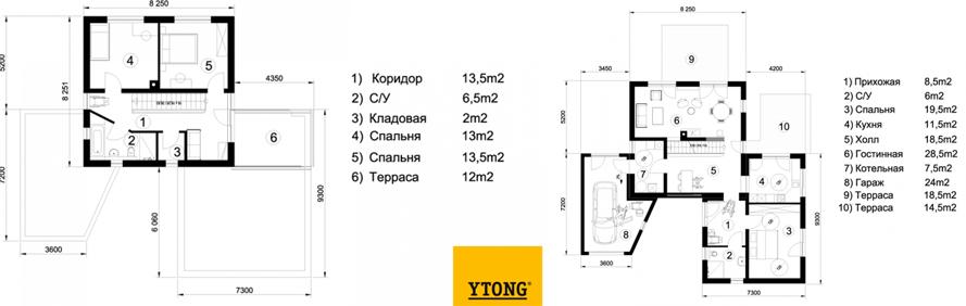 Схема дома из пеноблоков Эссен