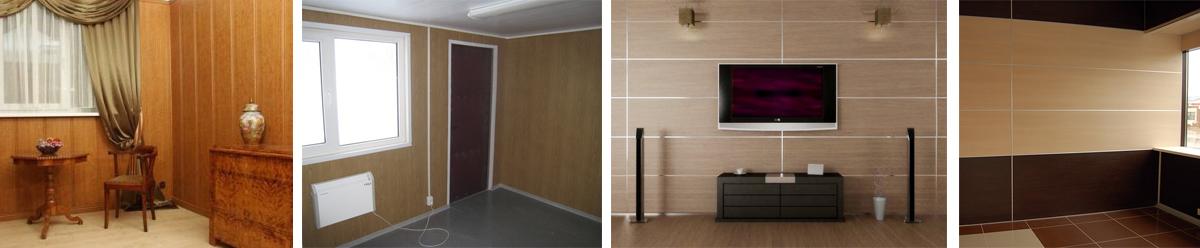 Фото внутренней отделки стен дома из пеноблоков панелями МДФ
