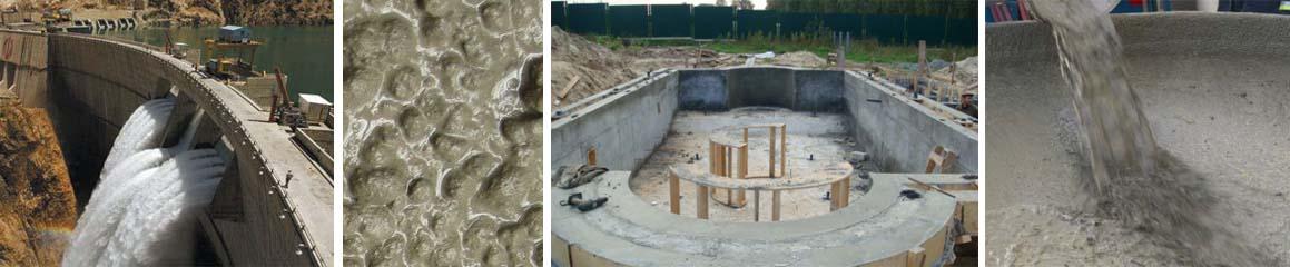 Характеристики гидротехнического водостойкого бетона