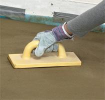 Железнение бетона сухим способом