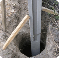 Как установить забор из бетона