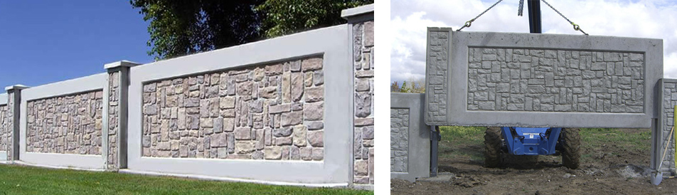 Монолитные заборы для загородного дома и дачного участка