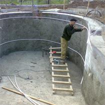 Основные этапы строительства бассейна