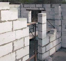 Особенности газоблока при строительстве бани