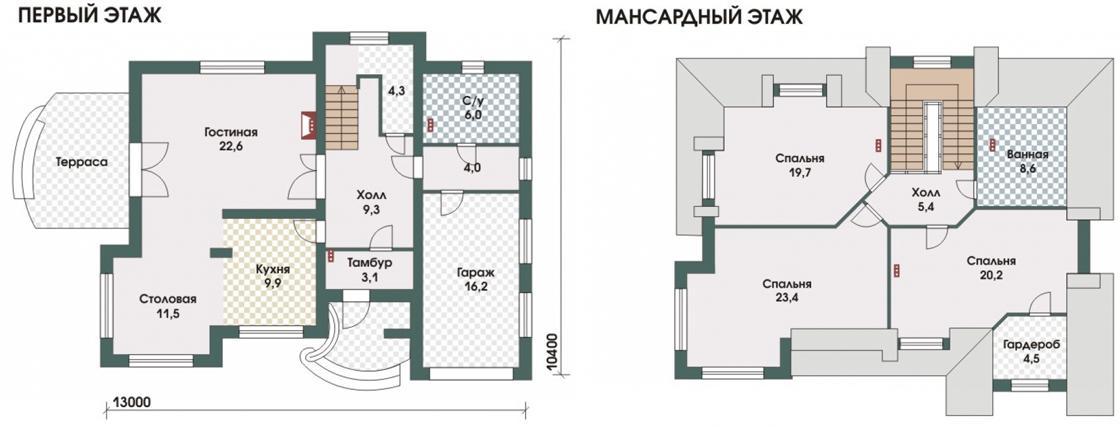 План схема дома Оберхоф