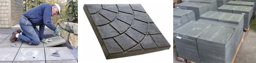 Плиты бетонные тротуарные, дорожные блоки
