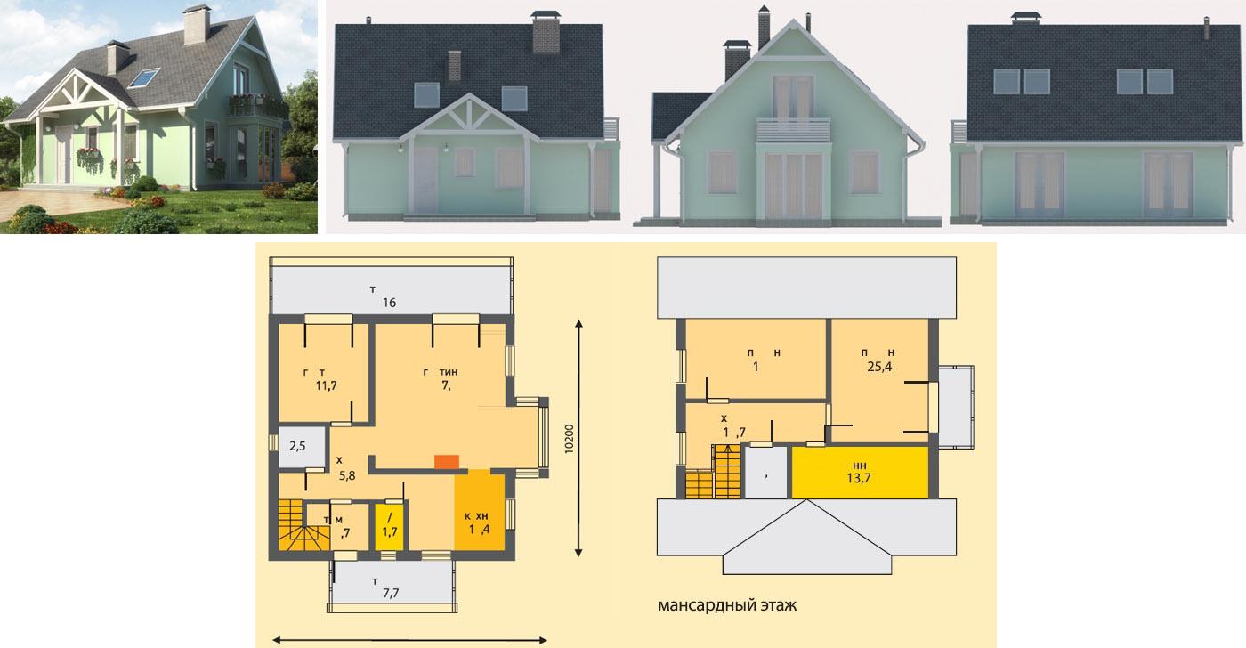Популряные проекты домов и коттеджей из шлакоблоков