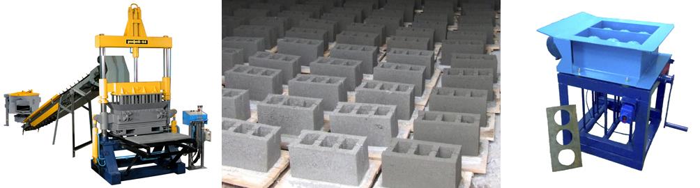 Станки и формы для изготовления керамзитоблоков