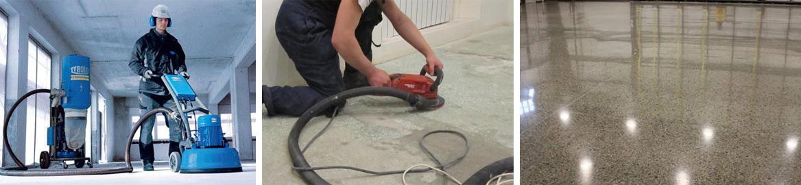 Технология полировки и шлифовки бетонного пола