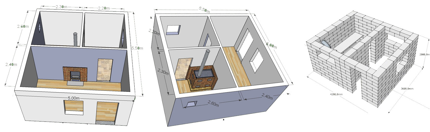 Типовой план проект бани из газобетона под ключ