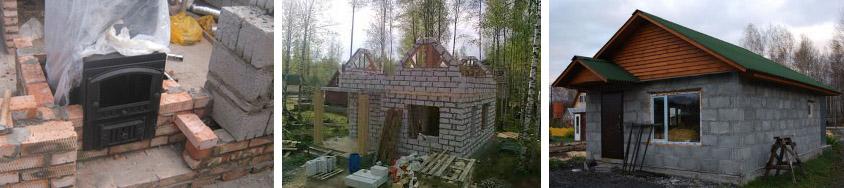 Фото строительства бани
