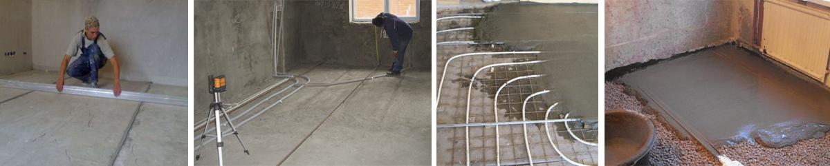 бетонная стяжка пола устройство своими руками