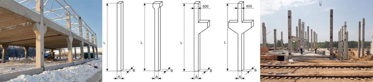 колонны железобетонные для многоэтажных зданий