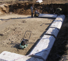 Монтаж фундаментной жби подушки своими руками
