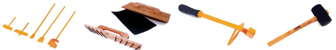 На фото инструменты без которых не обойтись при кладке газобетонных блоков