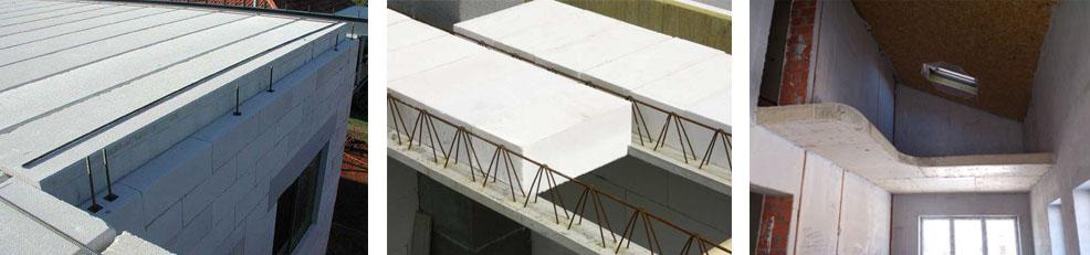 Плиты перекрытия из газобетона