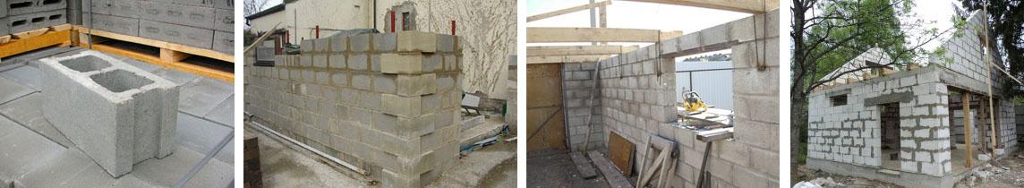 Поэтапное строительство из шлакоблоков гаража