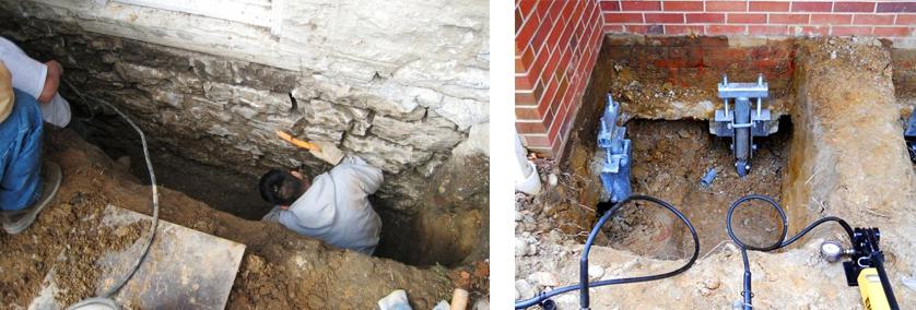 Реконструкция кирпичного дома начинается с фундамента