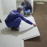 Сборка сухой стяжки производства KNAUF