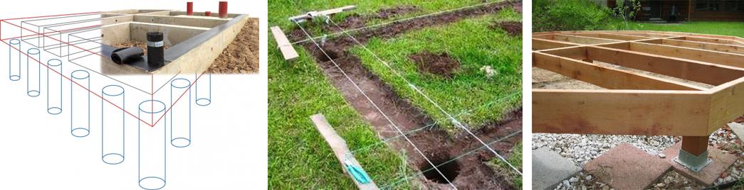 Строим столбчатый фундамент самостоятельно