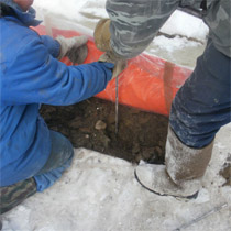 Укладка матов на бетон