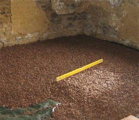 Утепление фундамента керамзитом внутри дома