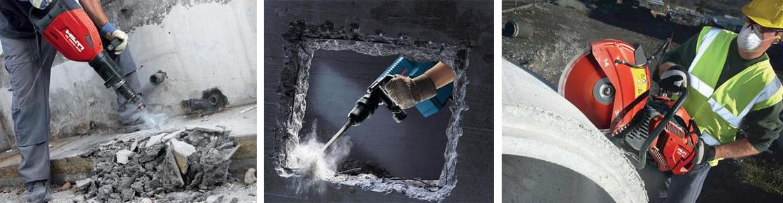 демонтаж бетона цена за куб