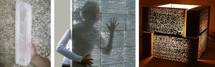 Характеристики прозрачного бетона