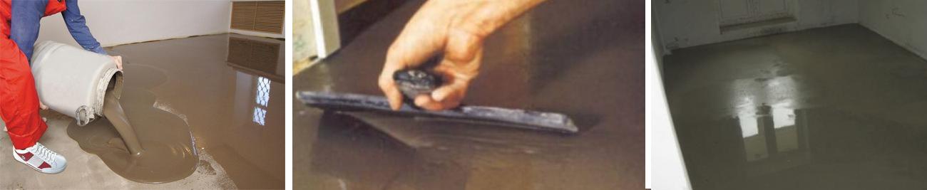 заливка бетона самовыравнивающейся смесью
