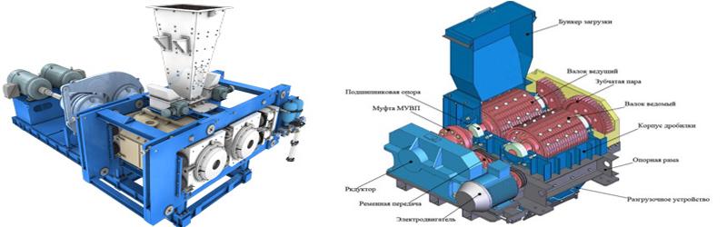 Валковое устройство дробления