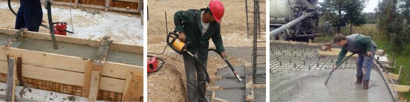Вибратор для уплотнения бетона