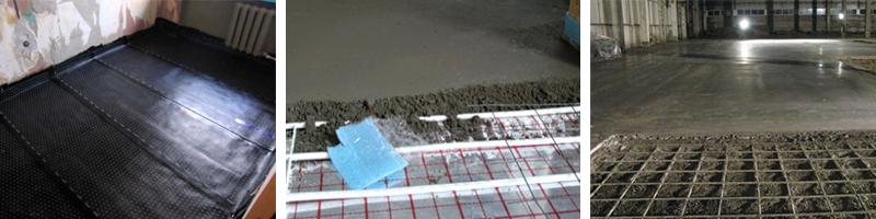 Виды бетонных стяжек