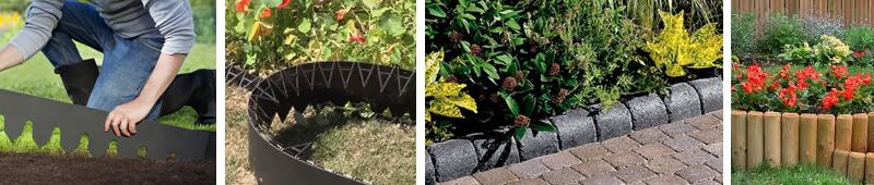 Виды бордюров для садового участка