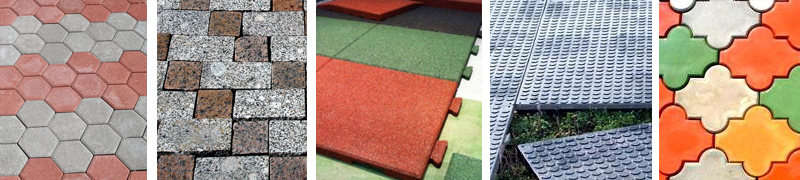 Виды тротуарной плитки для дачи