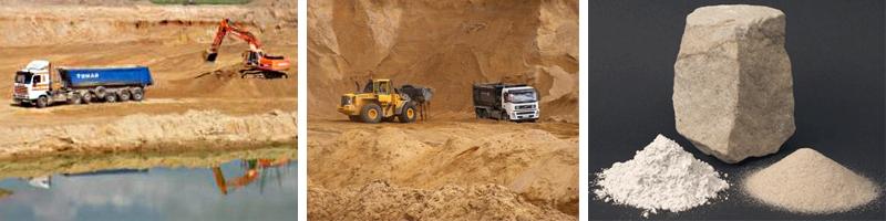 Добыча песка для строительных работ
