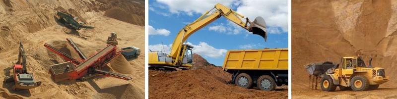 Добыча песка для строительства