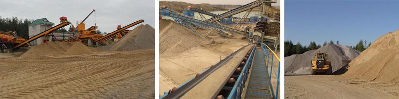 Добыча песка строительного
